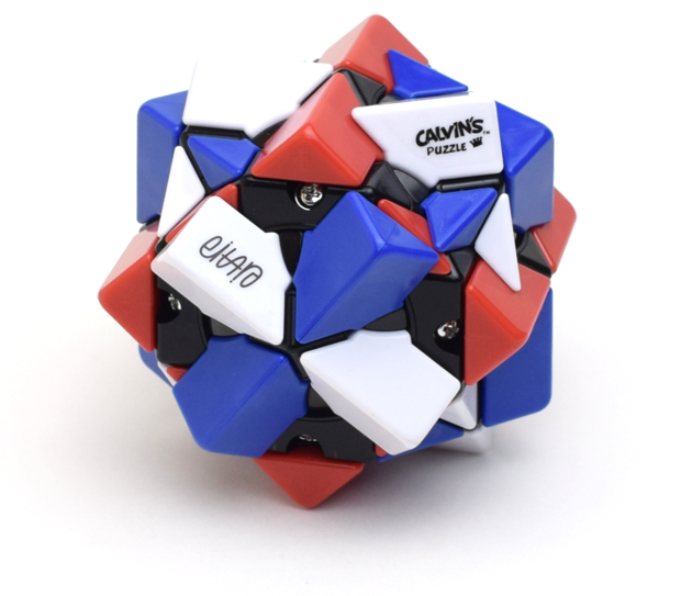 Calvin's Eitan's 3 Colors TriCube (White-Blue-Red)