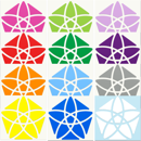 Bauhinia Dodecahedron triboxステッカーセット