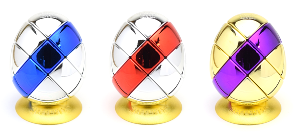Meffert's 2 Colors Metalised Egg 3x3x3