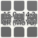 3x3 triboxステッカー 15.0:14.3mm CR (MoYu)