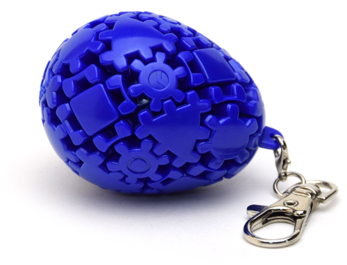 Meffert's Gear Egg Keychain