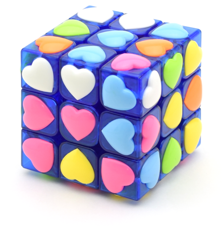 YJ Heart Tiled 3x3x3