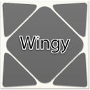 Skewb triboxステッカー Wingy